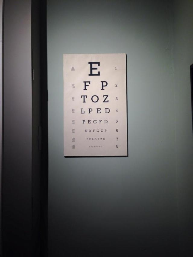 Yory 1914 eye test