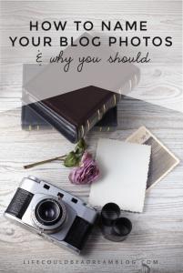 ow to name your blog photos