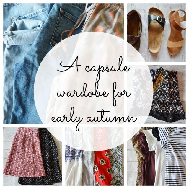capsule wardrobe for early autumn