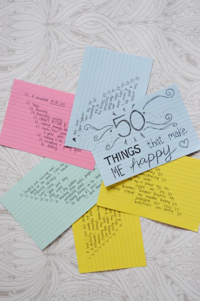 50 happy things